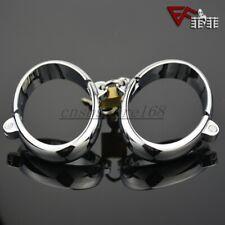 Steel Handcuffs Ankle Wrist Cuffs Restraint Metal Cuffs Lock Couple Cosplay Toy