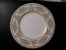 Vintage Wedgwood Columbia Gold Salad Plate Bone China England Flowers Dragons