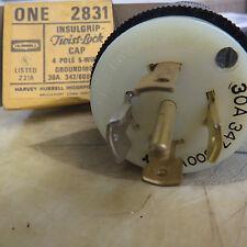 Hubbell Insulgrip Twistlock Cap 30 Amp 347/600 Volt, 4 pole 5 wire, 2831