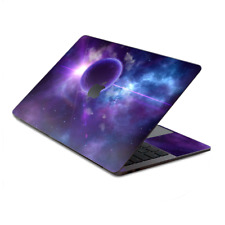 """Skin Decal Wrap for MacBook Pro 13"""" Retina Touch, Purple Moon Galaxy"""