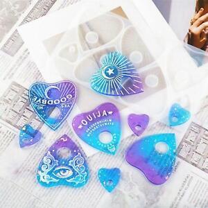 Ouija Planchette moldes de resina, moldes de fundición de silicona para juego
