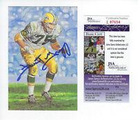 PACKERS Forrest Gregg signed Goal Line Art card JSA COA AUTO Autographed 1991