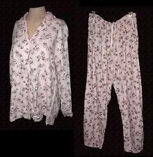 2-PC PJs Pajamas, Victoria's Secret, 100%-Cotton-Flannel, L
