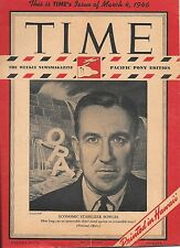 Time Magazine Pacific Pony Edition. March 4, 1946. Economic Stabilizer Bowles.