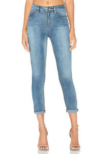Free People Gummy Roller Crop Jeans size W 26 (6-8) NWT Light Denim   (fp7)