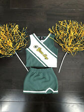 Nfl Green Bay Packers Cheerleader 2 Piece Outfit Size 6x/Large