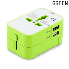 Multi International Wall Charger Plug Travel Power Adapter Dual USB Universal