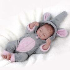 Mini 11''Realistic Full Silicone Handmade Reborn BabyDoll Sleeping Newborn Gift