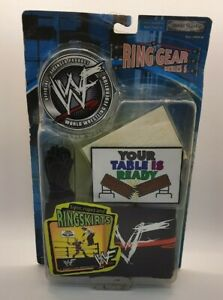 WWF RING GEAR SERIES 5 SIGNS ROPES AND RING SKIRTS RARE NEW YOUR TABLE IS READY