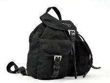 Auth [Average] PRADA Backpack Black Nylon Leather Women's (Used) 36983