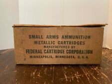 Vintage Federal Cartridge 22 Long Rifle Shot Cartridges Cardboard Box Minnesota