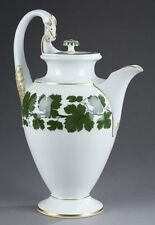 "Antique Huge Authentic Meissen Vineleaf or Weinlaub ""Biedermeier"" Coffee Pot"
