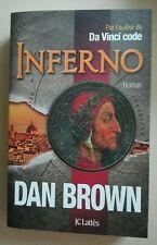 Inferno ROMAN Dan Brown français Très bonne état