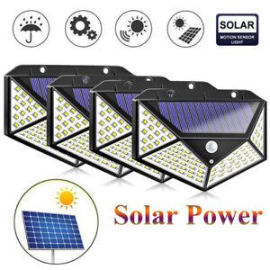 2pc éclairage Solaire Extérieur avec Détecteur de Mouvement étanche Spot Solaire