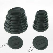 10pcs 82mm Center-Pinch Front Lens Cap + String for Nikon Canon Sony Olympus 10X