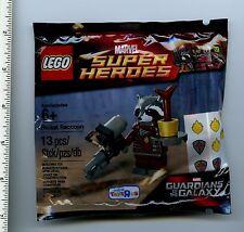 x 5 Guardians of the Galaxy LEGO Rocket Raccoon polybag NEW 5002145 TRU poly bag