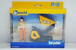 1:16 Bruder World JCB Dumpster HTD-5 with Construction Worker #62004 bworld