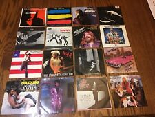 16 1970s 80s Pop Rock 45 Vinyl Record Lot U2 Bob Seger Tom Petty Picture Sleeves