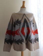Ralph Lauren -Sz XL Indian Blanket Southwest Rich Lux Art-to-Wear Sweater