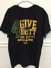 BRETT FAVRE...COMMEMORATE HIS PACKER HALL OF FAME SHIRT...4 GIVE & 4 BRETT...2XL
