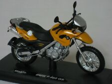 Maisto 1:18 Diecast Yellow BMW F 650 GS Motorcycle Bike