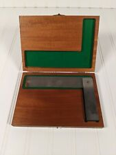 """Lufkin No 166 6"""" QUALITY SOLID SQUARE Machinist Tool Die 166-6 w/ Lined Wood Box"""