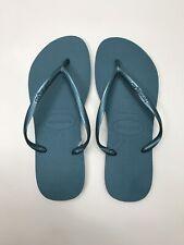 Havaianas Women's SLIM Flip Flops - Size Brazilian 39/40 Mineral Blue