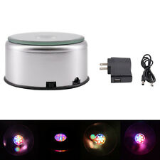3D Crystal Glass Trophy Laser 7LED Rotating Electric Light Stand Base Display