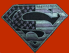 SUPERMAN USA FLAG ACU EMBROIDERED COMBAT TACTICAL HOOK PATCH