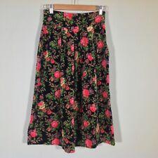 Vintage Herman Geist Maxi Skirt Womens 10P Petite Velvet Boho Floral