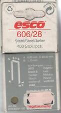 ESCO TACKERKLAMMERN 606 / 28 ---400 Stück für Bosch ,AEG ectr