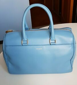 Saint Laurent Duffle Authentic Light Blue Bag