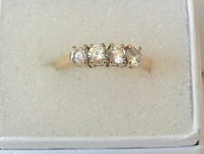 4 Stones Size 8 Width 3.63Mm Nice Gold Over Sterling Silver Cubic Zirconia Ring