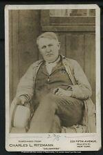 Vintage Inventor Cabinet Card Photograph: Thomas Alva Edison by Ritzmann c. 1910