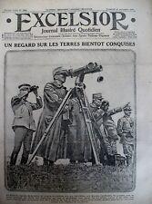 WW1 ROI ITALIE EN OBSERVATION CAMPAGNE D'HIVER FRONT RUSSE EXCELSIOR 19/11/1915