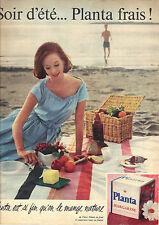 PUBLICITE ADVERTISING   1956   PLANTA FIN  margarine