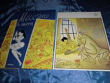 Meccano 2 : Gilette , COMIC Album , limitiert , Nr.32 / 200 , mit Druck signiert