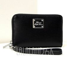 RALPH LAUREN SLOAN STREET LEATHER iPHONE 4 4S 5 TECH ZIP WALLET WRISTLET BAG NWT