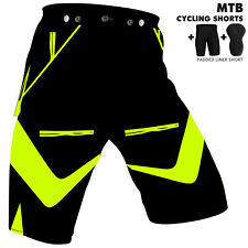 MTB Cycling Shorts Off Road Cycle Bicycle CoolMax Padded Liner Short Nexwears