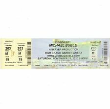 MICHAEL BUBLE Concert Ticket Stub LAS VEGAS NV 11/23/13 MGM GRAND GARDEN ARENA