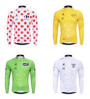 Men Winter Cycling Race Team Tops Thermal Fleece Long Sleeve Jersey Sport Wear