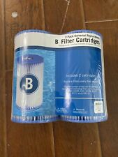 "Summer Waves 2-Pack Type B Universal Filter Cartridge - 10"" x 5.5""."