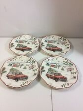 4 NEW Better Homes and Gardens Winter Heritage Salad Plates Christmas Holiday