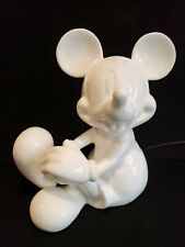Vtg Walt Disney Mickey Mouse Schmid Porcelain Lamp / Nightlight Electric ~ Mint!
