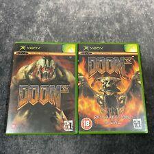 Doom 3 & Resurrection of Evil Original Xbox PAL Game Bundle Demon Shooters