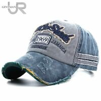 URGENTMAN® Caps Unisex Washed Denim BaseballCap HighQuality Snapback Hats Summer