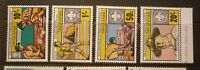 OLD BOY SCOUT GIRL GUIDE STAMP COLLECTION, TANZANIA SET OF 4 MINT, 75th ANNIV