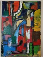 Original Oil Painting Abstract Large Canvas Expressionist Colour Modern Art - A1