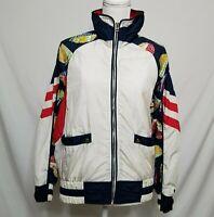 VTG East West Womens S Full Zip Windbreaker Jacket Sailboats Nautical Theme