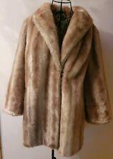 Vintage Faux Artic Fox Fur Swing Coat Size Medium (14/16)